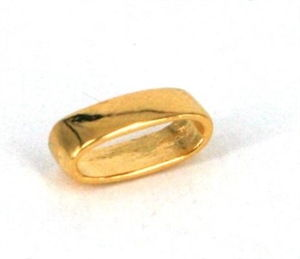 Oval lukket ring ca. 10 x 3,5 mm