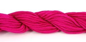 Knyttesnor, Pink polyester ca. 2 mm, 16 meter