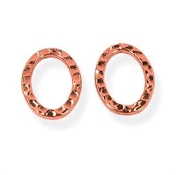 2 stk. Banket oval ringe 13 x 18 mm