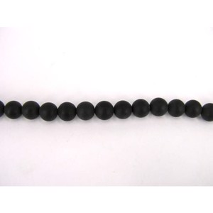 8 mm MAT sort onyx 1/1 streng
