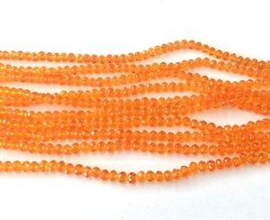 Orange Glasperler, facet 4 x 3 mm 1/1 streng